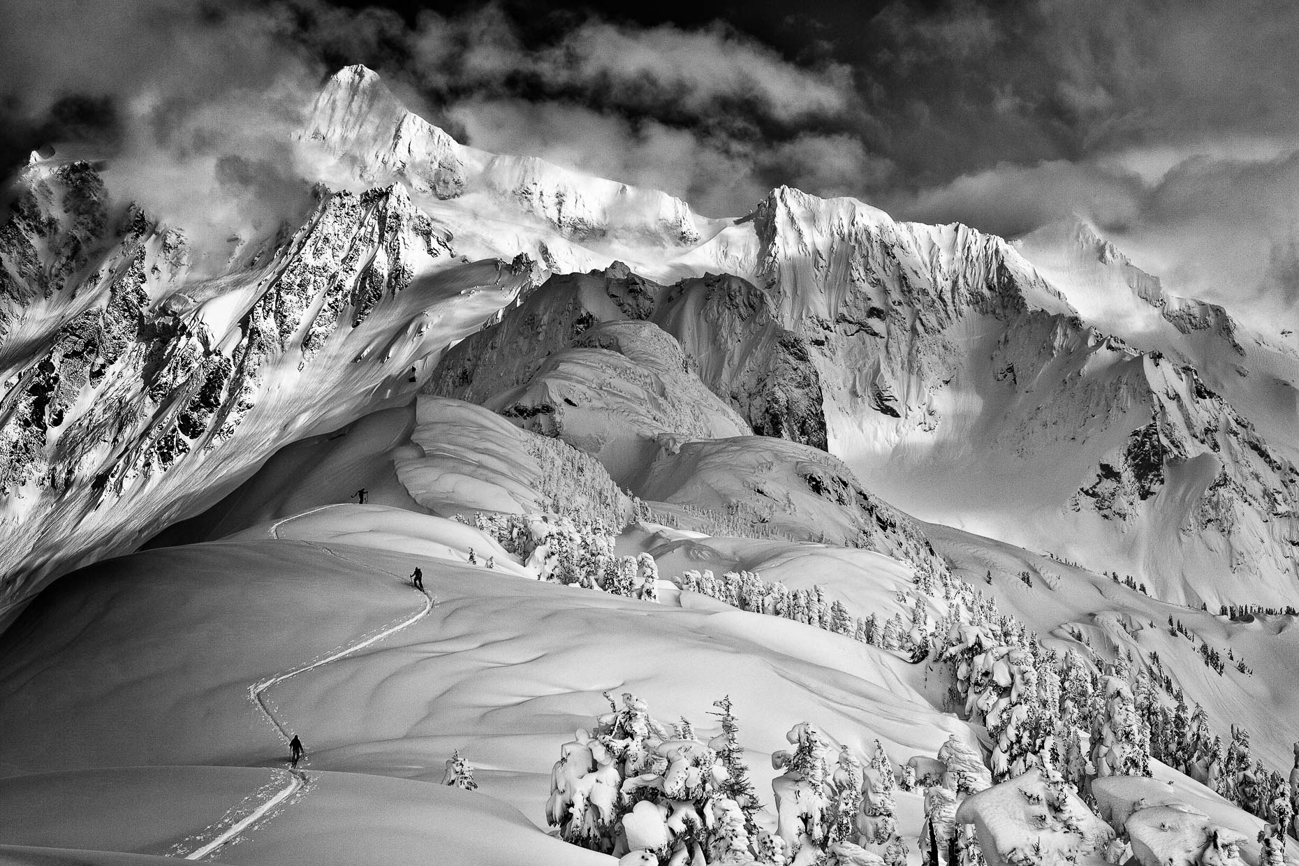 Ski touring,  Shuksan Arm, 001_201104066342-Edit-Edit