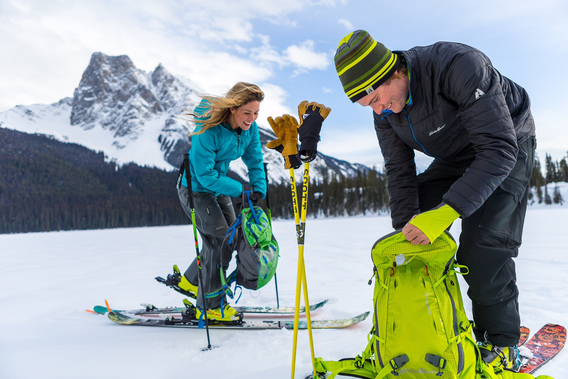 Ski touring, Emerald Lake Lodge, 086_55449_GG_693